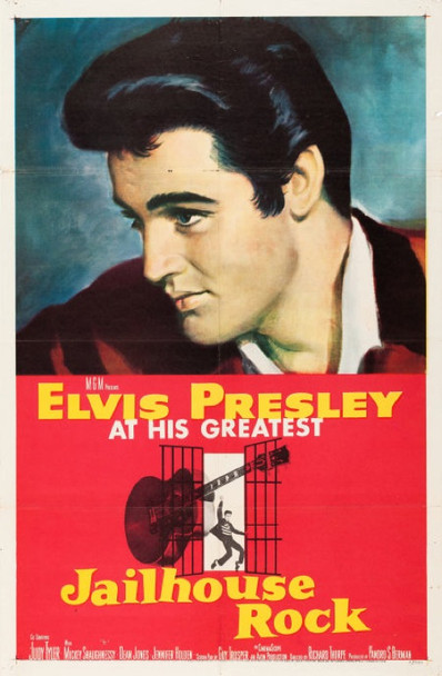 JAILHOUSE ROCK (1957) 23079 MGM Original One Sheet Poster.  27x41  Linen backed.