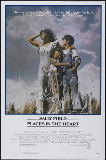 PLACES IN THE HEART (1984) 322 Original Tri-Star One Sheet Poster   Rolled   27x41   Very Fine to Near Mint
