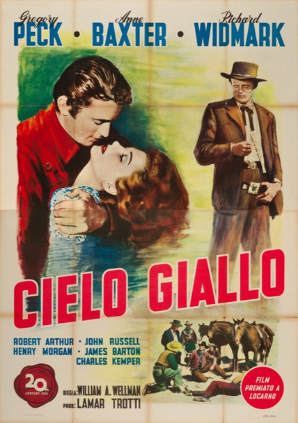 YELLOW SKY (1948) 24627 First Release Italian 79x55  Unbacked.  Very Fine.
