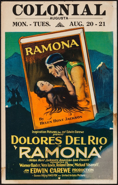 RAMONA (1928) 24665 United Artists Window Card   14x22   Fine Condition.   Dolores Del Rio