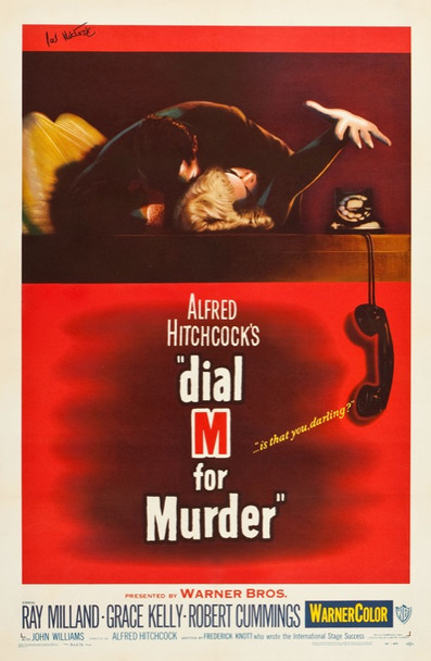 DIAL M FOR MURDER (1954) 24616 Original Warner Brothers One Sheet Poster (27x41).  Linen-Backed.  Very Fine.  Signed by Pat Hitchcock.