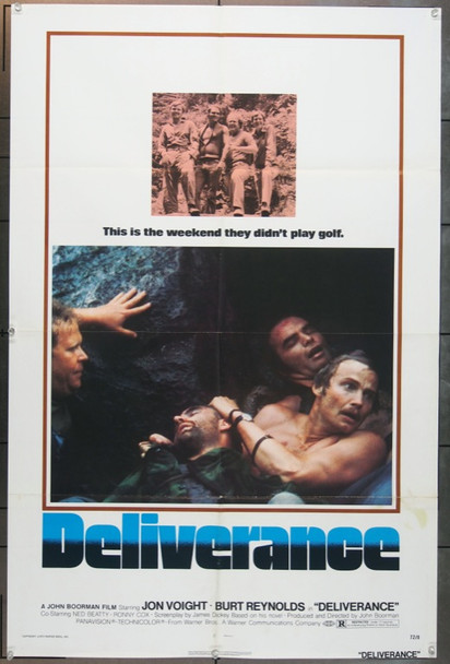 DELIVERANCE (1972) 15856 Original Warner Brothers One Sheet Poster (27x41).  Folded.  Very Good Condition.