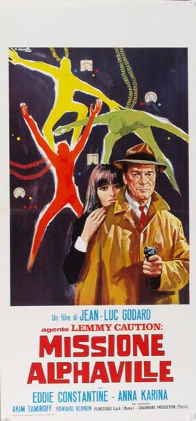 ALPHAVILLE, UNE 'ETRANGE AVENTURE A TAM (1965) 8027 Athos Films Italian Original Poster.    Locandina   13x27  Very Fine Plus