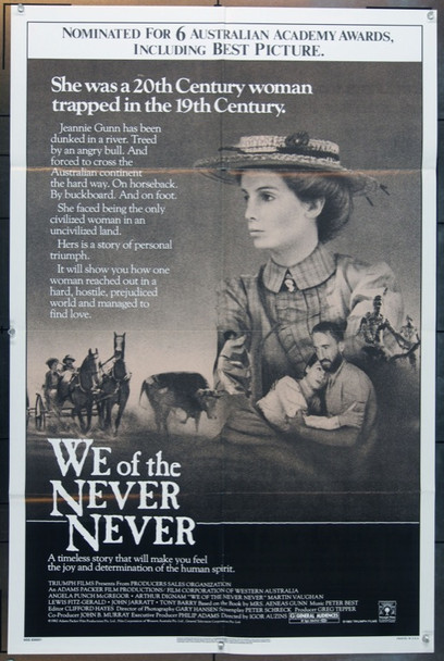 WE OF THE NEVER NEVER (1982) 24688 Original Hoyts Distribution One Sheet Poster (27x41).  Folded.  Very Fine.