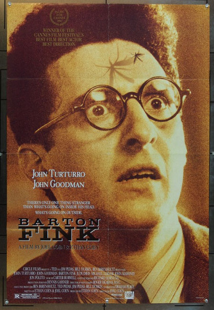 BARTON FINK (1991) 24693 20th Century Fox One Sheet Poster    27x41   Folded    Very Fine Condition
