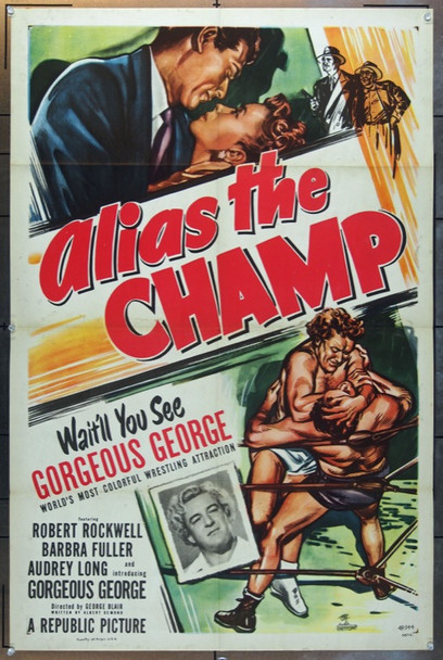 ALIAS THE CHAMP (1949) 2144 Original Republic Pictures One Sheet Poster (27x41).  Folded.  Very Fine Condition.