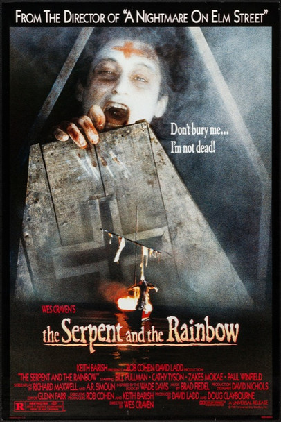 SERPENT AND THE RAINBOW, THE (1987)  Universal Pictures One Sheet   27x41  Rolled  Very Fine  Rolled