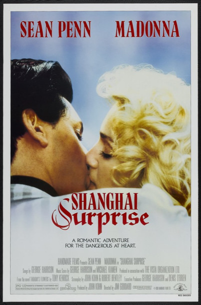 SHANGHAI SURPRISE (1986) 66 Original MGM One Sheet Poster (27x41).   Rolled.  Very Fine Plus    MADONNA and SEAN PENN