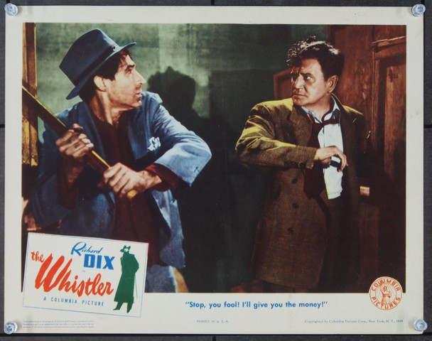 WHISTLER, THE (1944) 9267 Original Columbia Pictures Scene Lobby Card (11x14).  Very Fine.
