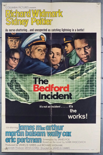 BEDFORD INCIDENT, THE (1965) 11281 Columbia Pictures One Sheet Poster    27x41   Folded.