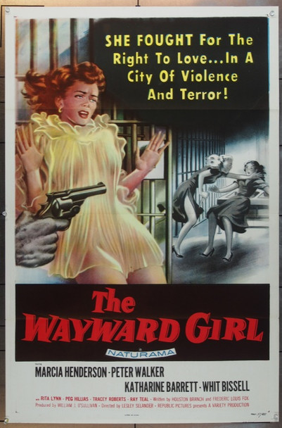 WAYWARD GIRL, THE (1957) 14366 Republic Pictures One Sheet Poster   27x41  Very Fine Plus  Tri-Folded