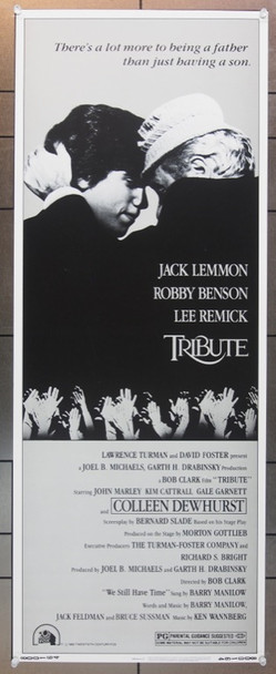 TRIBUTE (1980) 12324 20th Century Fox Insert Poster    14x36   Rolled   Very Fine Plus