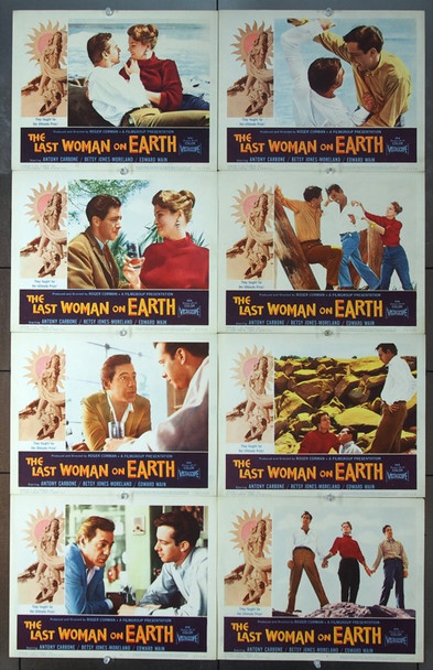 LAST WOMAN ON EARTH, THE (1960) 2548 Film Group Inc Original Lobby card set    1960   Very Fine Plus  RARE CORMAN SET