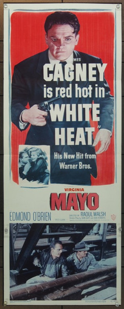WHITE HEAT (1949) 14803 Warner Brothers Insert Poster   14x36   Folded  Very Fine     JAMES CAGNEY