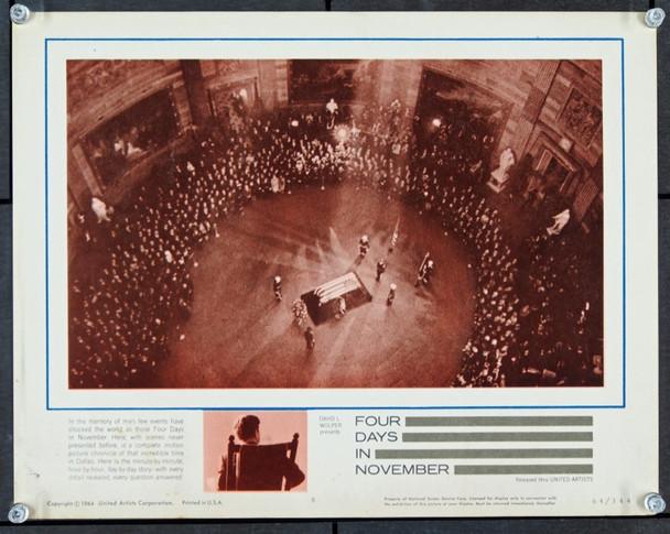 FOUR DAYS IN NOVEMBER (1964) 22441 Original United Artists Scene Lobby Card (11x14).  Very Fine Conditiion.