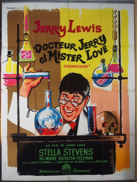 NUTTY PROFESSOR, THE (1963) 24448 Original Paramount Pictures French Grande Poster (47x63).   Folded  Very Fine     BORIS GRINSSON ART OF JERRY LEWIS
