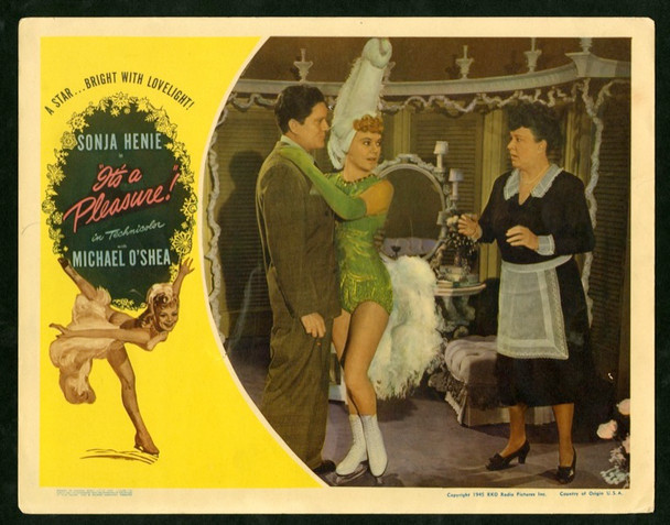 IT'S A PLEASURE (1945) 2612 Original RKO Scene Lobby Card (11x14).  Sonja Henie.  Fine Plus Condition.