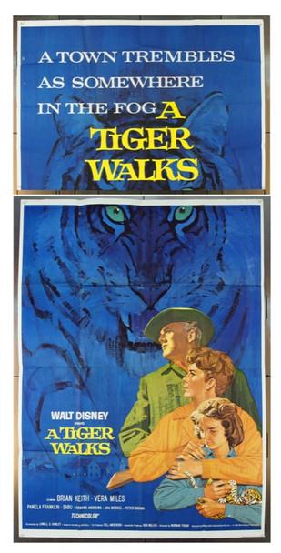 TIGER WALKS, A (1964) 13376 Original Walt Disney Productions Three Sheet Poster (41x81).  Folded.  Fine Plus Condition.