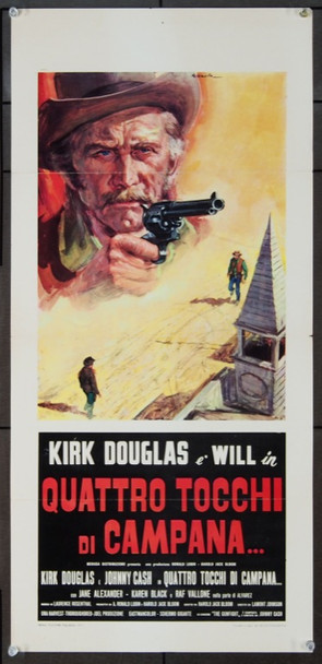 GUNFIGHT, A (1971) 23523 Paramount Original Italian Locandina     14 x 28   Folded.   Very Fine