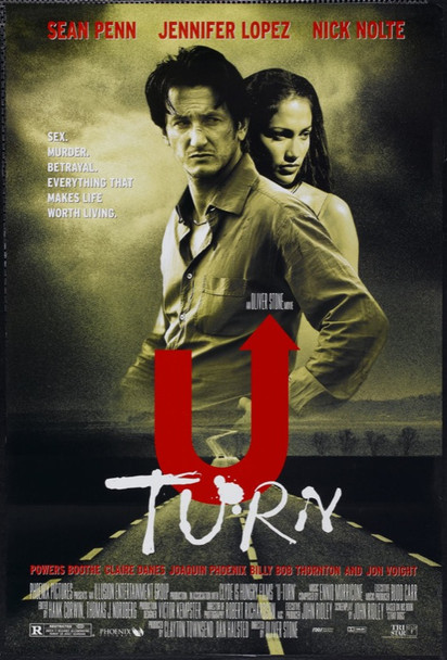 U TURN (1997) 22027 Original TriStar Pictures One Sheet Poster (27x41).  Double-Sided.  Rolled.  Very Fine.