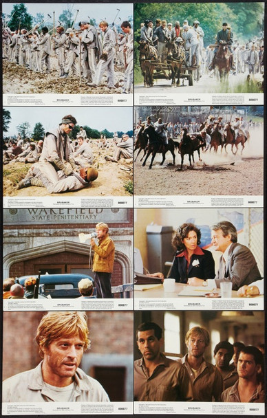 BRUBAKER (1980) 10020 Original 20th Century-Fox Complete Set of 8 Lobby Cards (11x14).  Very Fine.