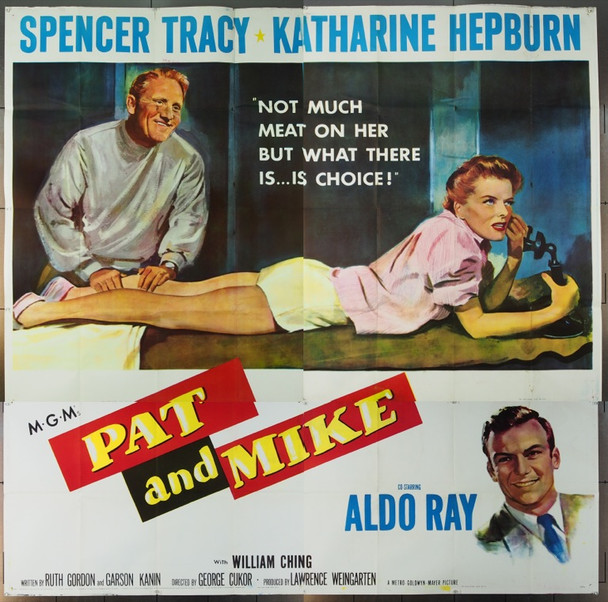 PAT AND MIKE (1952) 12622 Original MGM Six Sheet Poster (81x81).  Folded.  Fine Plus to Very Fine.