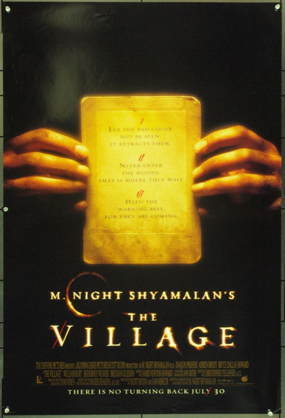 VILLAGE, THE (2004) 16600 Touchstone Pictures Original One Sheet Poster    27x41    Rolled     Fine Condition.