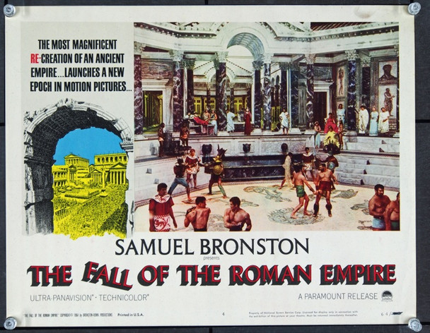 FALL OF THE ROMAN EMPIRE, THE (1964) 22440 Paramount Original Scene Lobby Card   11x14   Very Fine Condition