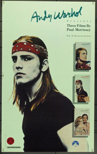 ANDY WARHOL (1988) 19292 Paramount Home Video.  23 x 36 point of promotion poster   Rolled   Very Fine