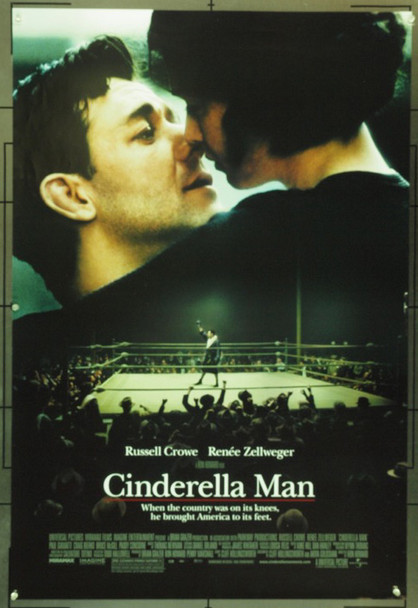 CINDERELLA MAN (2004) 16604 Original Universal Pictures One Sheet Poster (27x41).  Double-Sided.  Folded.  Very Good Condition.