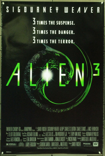 ALIEN3 (1991) 21985 20th Century Fox One Sheet Poster    27x41  Rolled   Fine Plus Condition