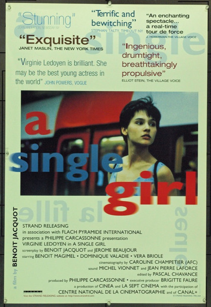 SINGLE GIRL, A (1995) 22021 Pyramide Distributors One Sheet Poster   27x41   Fine Condition