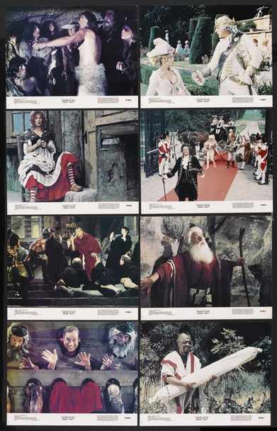 HISTORY OF THE WORLD PART I (1981) 10086 Original 20th Century Fox Complete Set of 16 Lobby Cards (11x14).  Very Fine To Near Mint.