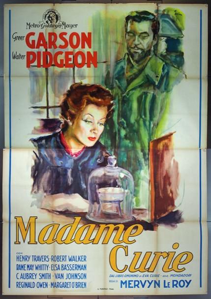 MADAME CURIE (1943) 24777 Original Italian Quattro Poster (55x79).  Folded.  Unbacked.  Fine Plus Condition.