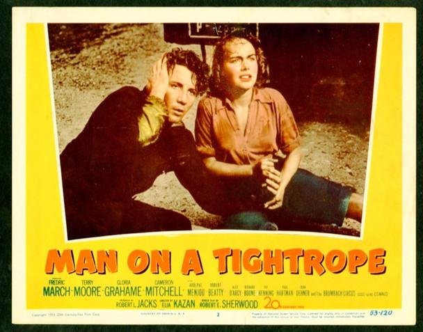 MAN ON A TIGHTROPE (1953) 9813 20th Century Fox Scene Lobby Card  11x14   Fine Condition