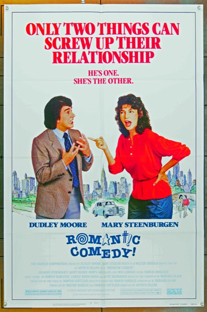 ROMANTIC COMEDY (1983) 3101 Original MGM/UA One Sheet Poster (27x41).  Folded.  Very Fine Condition.