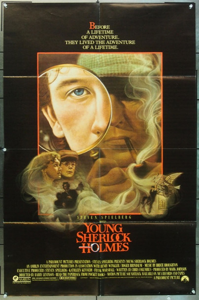 YOUNG SHERLOCK HOLMES (1985) 11207 Paramount One Sheet Poster   27x41  Folded  Very Fine