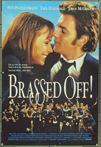 BRASSED OFF (1997) 16166 Original Miramax Films One Sheet Poster (27x41).  Double-Sided.  Unfolded.  Very Fine.