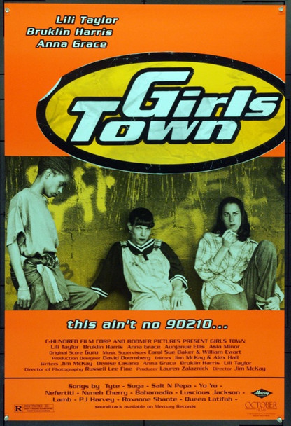 GIRLS TOWN (1996) 21993 Original October Films One Sheet Poster (27x41).  Day-Glow on Heavy Stock.  Unfolded.  Very Fine.
