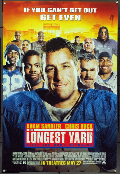 LONGEST YARD, THE (2005) 16603 Original Paramount Pictures Advance One Sheet Poster (27x41).  Double-Sided.  Unfolded.  Very Fine.