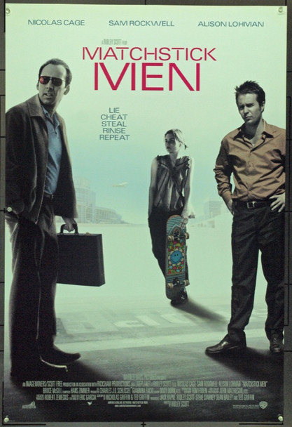 MATCHSTICK MEN (2003) 16599 Original Warner Brothers One Sheet Poster (27x41).  Double-Sided.  Unfolded.  Very Fine.