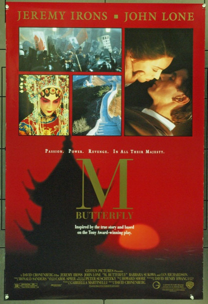 M BUTTERFLY (1993) 22001 Original Warner Brothers One Sheet Poster (27x41).  Double-Sided.  Unfolded.  Very Fine.