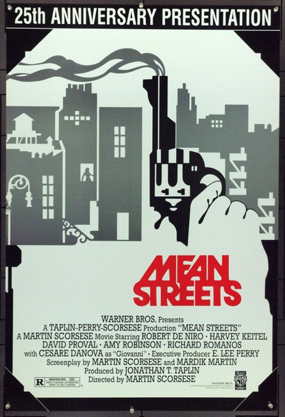 MEAN STREETS (1973) 16150 Original Warner Brothers 1998 Re-Release One Sheet Poster (27x41).  Unfolded.  Very Fine.
