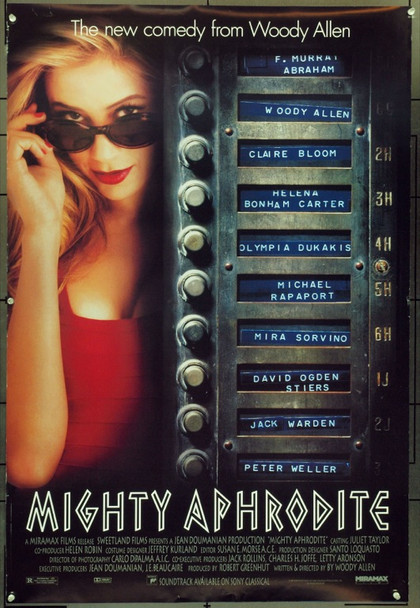 MIGHTY APHRODITE (1995) &16151 Original Miramax Films One Sheet Poster (27x41).  Unfolded.  Very Fine.