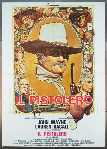 SHOOTIST, THE (1976) 24878 Paramount Original Italian Two-Sheet Poster    39x55  Folded.  Very Fine