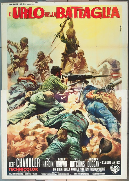 MERRILL'S MARAUDERS (1961) 24891 Warner Brothers Italian Four Sheet Poster   79 x 55  Folded.  Fine Plus Condition
