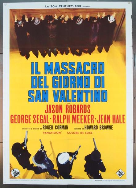 ST. VALENTINES DAY MASSACRE, THE (1967) 24889 Original Italian Two Fogli Poster (39x55).  Enzo Nistri Artwork.  Folded.  Very Fine Condition.