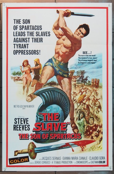 SLAVE, THE (1963) 8088 MGM Original One Sheet Poster   27x41  Folded  Very Fine