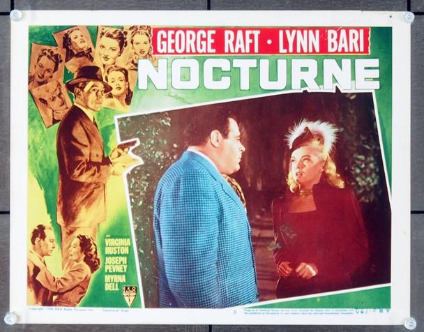 NOCTURNE (1946) 8102 Original RKO lobby scene card    11x14   Very Good Plus Condition.