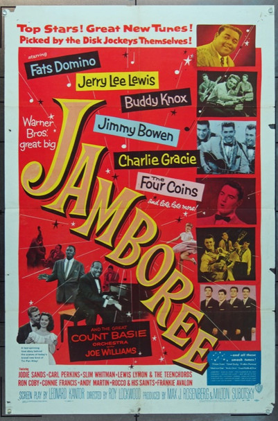 JAMBOREE! (1957) 15138 Warner Brothers Original One Sheet Poster (27x41).  Folded.   Very Good.